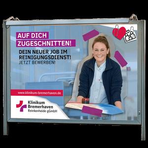Großfläche Werbung Klinikum Bremerhaven