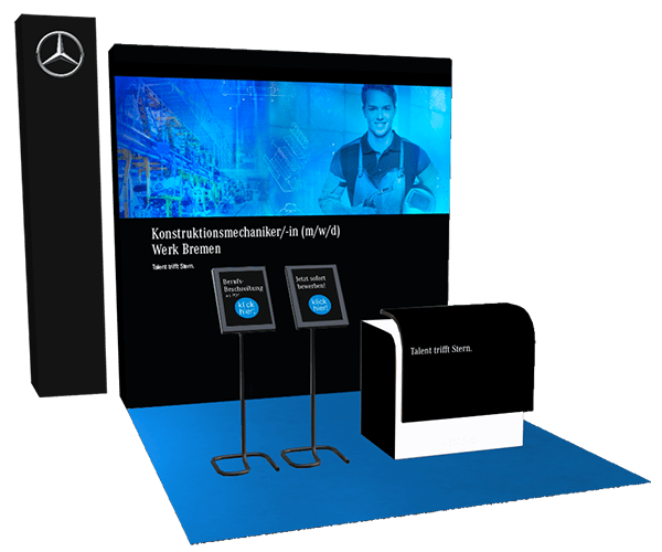 Digitaler Messestand Mercedes Benz
