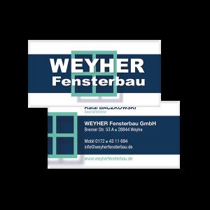 Visitenkarte Weyher Fensterbau