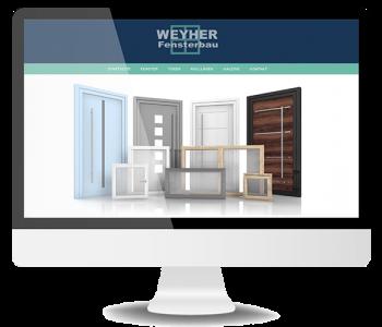 Website Weyher Fensterbau